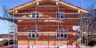 Chantier de construction d'une maison individuelle