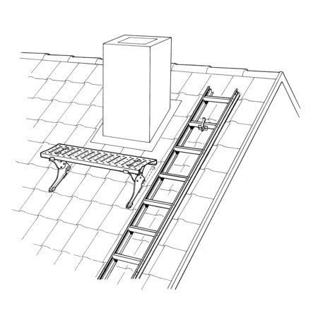 Echelle toit échelle Européenne