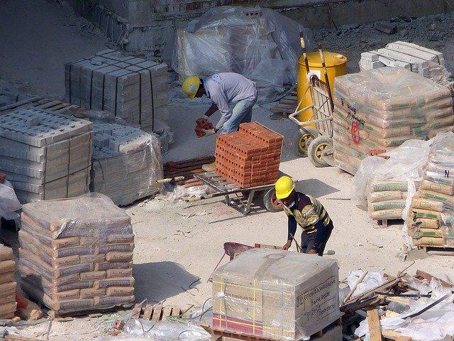 construction sur un chantier